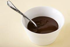 Schokoladen-Soße Stockbild