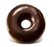 Schokoladen-Spitzendonut Stockfotografie
