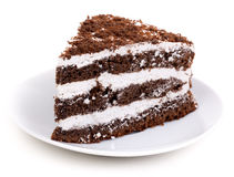 Schokoladen-Stück des Kuchens stockfoto