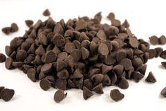 Schokoladen-Stückchen stockbild