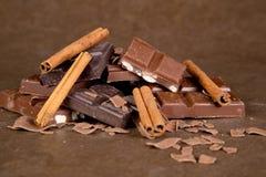 Schokoladen-Stücke - 01 Stockfotos