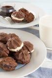 Schokoladen-Stern-Kekse Stockfoto