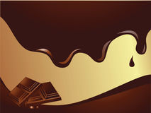 Schokoladen-Tapete stock abbildung