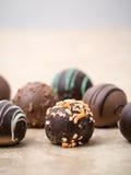 Schokoladen-Trüffeln Lizenzfreies Stockbild
