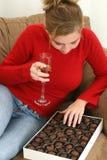 Schokoladen und Champagne Lizenzfreie Stockbilder