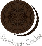 Schokoladen- und Cremesandwichplätzchen Stockfotos