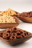 Schokoladen- und Honiggetreide Stockfoto