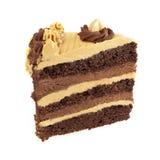 Schokoladen- und Karamellschichtkuchen Stockbilder