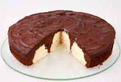 Schokoladen- und Kokosnusskuchen Lizenzfreie Stockfotos