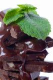 Schokoladen und Minze. Stockbilder