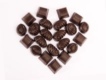 Schokoladen-Valentinsgruß 2 Stockbilder