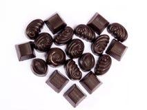 Schokoladen-Valentinsgruß Lizenzfreies Stockfoto