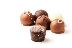 Schokoladen-Versammlung Stockfotos