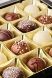 Schokoladen-Versammlung stockfoto