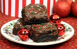 Schokoladen-Weihnachtsschokoladenkuchen Stockbilder