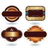 Schokoladen-Zeichen-Schablone Stockfotos