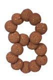 SchokoladenAcajounuss-Butterplätzchenstapel in Form von der Grabung Lizenzfreie Stockfotografie