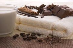 Schokoladenbadekurort Stockfoto