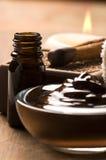 Schokoladenbadekurort mit Zimt Stockfotografie