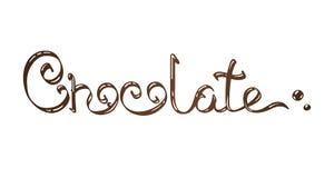 Schokoladenbeschriftung Lizenzfreie Stockbilder