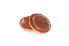 Schokoladenbiskuit stockbild
