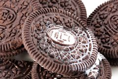 Schokoladenbiskuit Lizenzfreies Stockbild