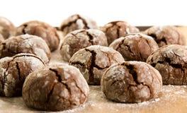 Schokoladenbiskuite Stockfotos