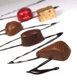 Schokoladenbonbons Stockfotos