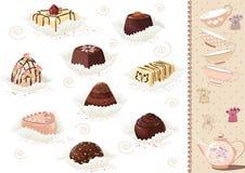 Schokoladenbonbons lizenzfreie abbildung