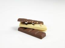 Schokoladenbraun und weiß Stockbild