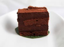 Schokoladencharlotte-Kremeiskuchen stockfotos