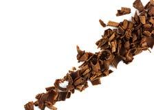 Schokoladenchips diagonal Stockbild