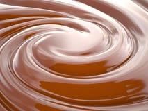 Schokoladencreme, 3D Lizenzfreies Stockbild