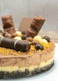Schokoladencreme-Kuchen stockbilder
