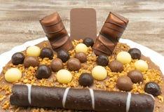 Schokoladencreme-Kuchen stockbild