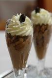 Schokoladencremenachtisch Lizenzfreie Stockfotos