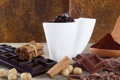 Schokoladencup stockfotos