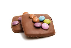 Schokoladendeutschplätzchen Stockfoto