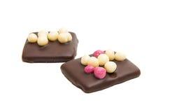 Schokoladendeutschplätzchen Stockbilder