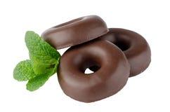 Schokoladendonutplätzchen lizenzfreie stockfotos