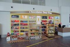 Schokoladenduty-free-shop in Kuala Lumpur International Airport Lizenzfreie Stockfotos