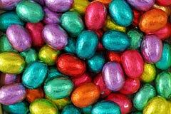 Schokoladeneier in der Folie Stockbild