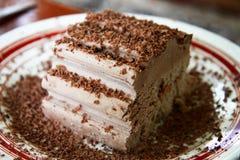 SchokoladenEiscreme und hardered Schokolade vorbei Lizenzfreies Stockfoto