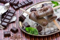 SchokoladenEiscremeeis am stiel Lizenzfreies Stockfoto