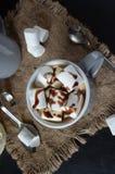 Schokoladenerschütterung mit Bratenfettsoße und -eibischen Lizenzfreies Stockbild