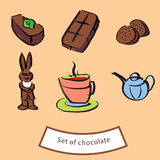 Schokoladenfiguren stock abbildung
