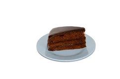 Schokoladenfondant-Kuchen Stockfotos