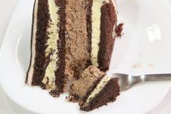 Schokoladenfondantkuchen Lizenzfreie Stockbilder