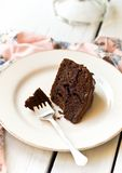 Schokoladenfondantkuchen Lizenzfreies Stockfoto