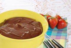 Schokoladenfondue stockbilder